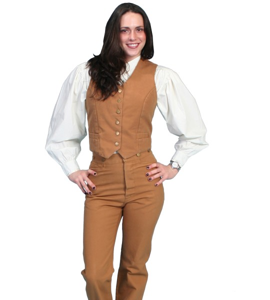 Rangewear Ranch Style Riding Canvas Pants in Tan by Scully Leather