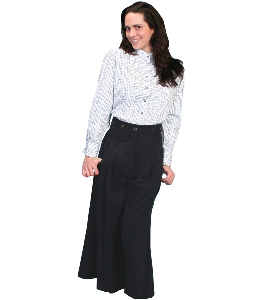 Rangewear Cowgirl Horse Riding Long Trousers in Black by Scully Leather