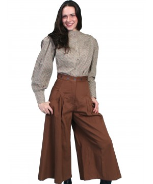 Rangewear Cowgirl Horse Riding Long Trousers in Brown by Scully Leather