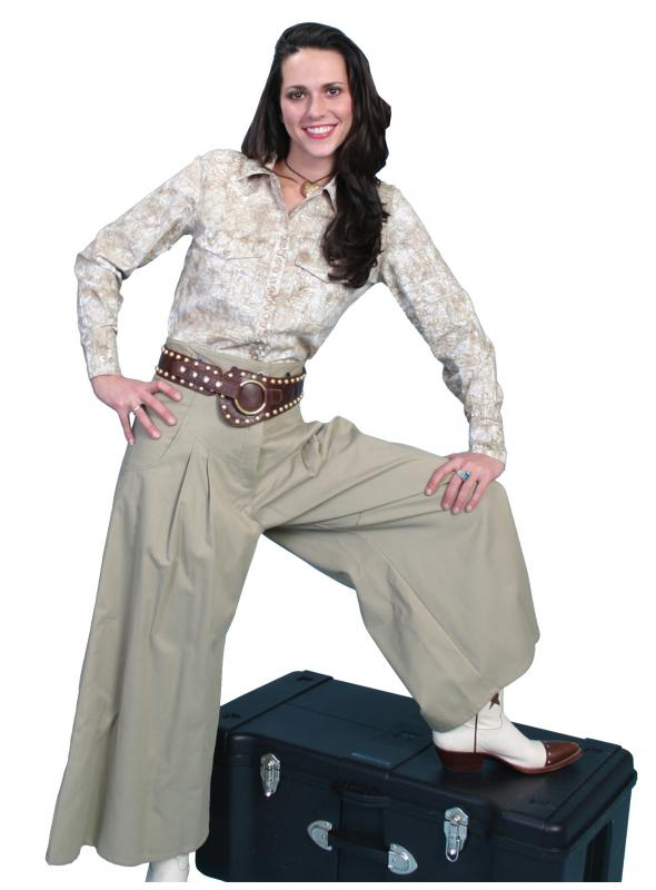 Rangewear Cowgirl Horse Riding Long Trousers in Tan by Scully Leather