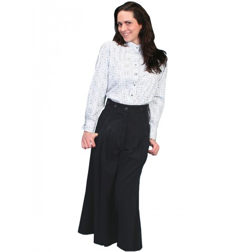 Cowgirl Horse Riding Shortened Trousers in Black