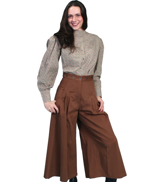 Rangewear Cowgirl Horse Riding Shortened Trousers in Brown by Scully Leather