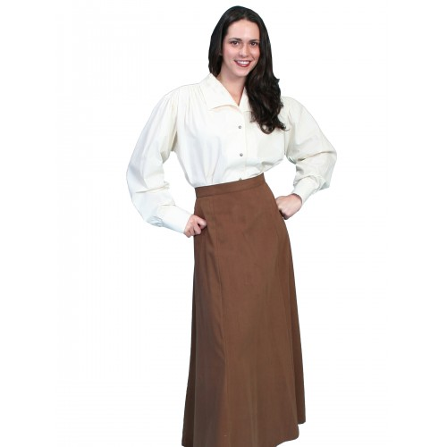 Classic Victorian Five Gore Skirt in Brown