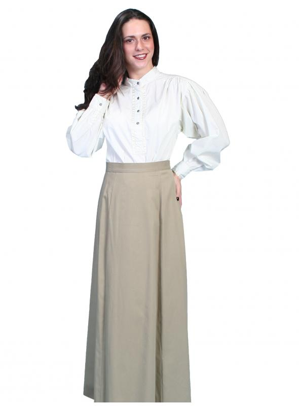 Rangewear Classic Victorian Five Gore Skirt in Tan by Scully Leather