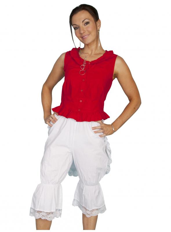 Rangewear Victorian Style Solid White Bloomers by Scully Leather