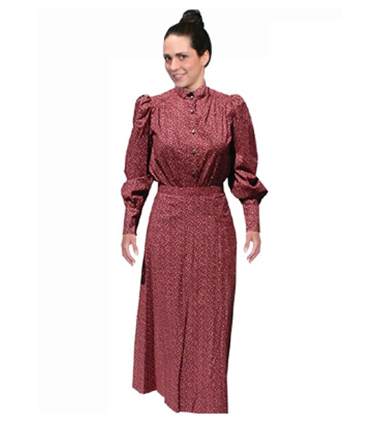 Rangewear Victorian Style Walking Skirt in Burgundy by Scully Leather