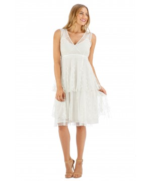 Emily Vintage Style Party Dress in Ivory by Nataya