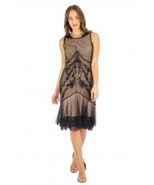 Age of Love Tatianna AL-428 Vintage Style Party Dress in Onyx by Nataya