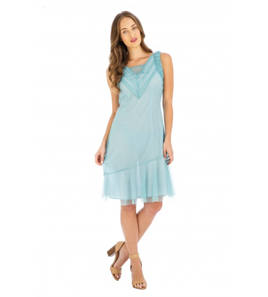 Age of Love Stella AL-632 Vintage Style Party Dress in Turquoise by Nataya