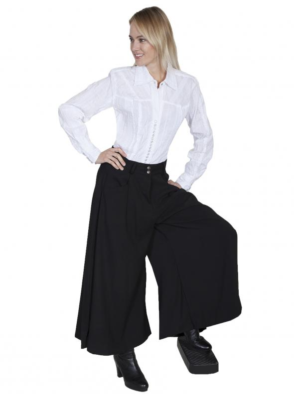 Rangewear Farmhouse Split Skirt in Black by Scully Leather
