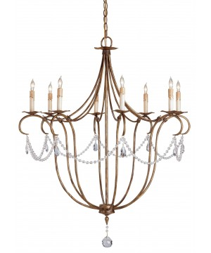 Crystal Light Chandelier by Currey and Company