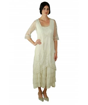 2101 Titanic Tea Party Dress in Ivory by Nataya