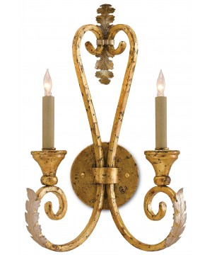 Orleans Gold Wall Sconce by Currey and Company