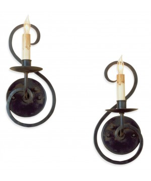 Iron Flourish Pair Wall Sconce by Currey and Company