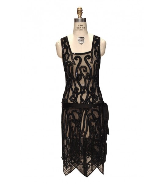 Art Nouveau Romantic Party Dress in Aurora by The Deco Haus