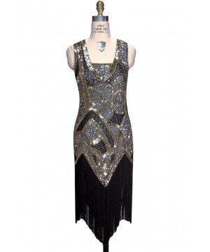 Charleston Art Deco Party Dress in Sapphire by The Deco Haus