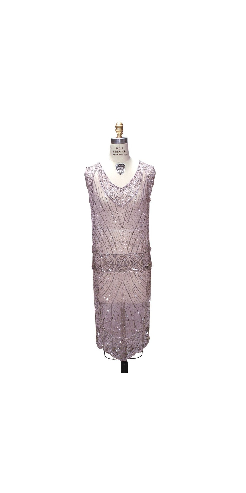 Wolf Haus Reggio Emilia great gatsby style tabard dress in peppermint pink by the deco haus