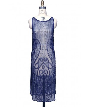 Flapper Style Party Dress in Cobalt by The Deco Haus