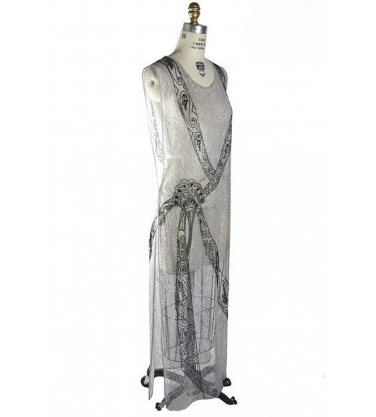 Flapper Style Elegant Party Dress in Silver by The Deco Haus