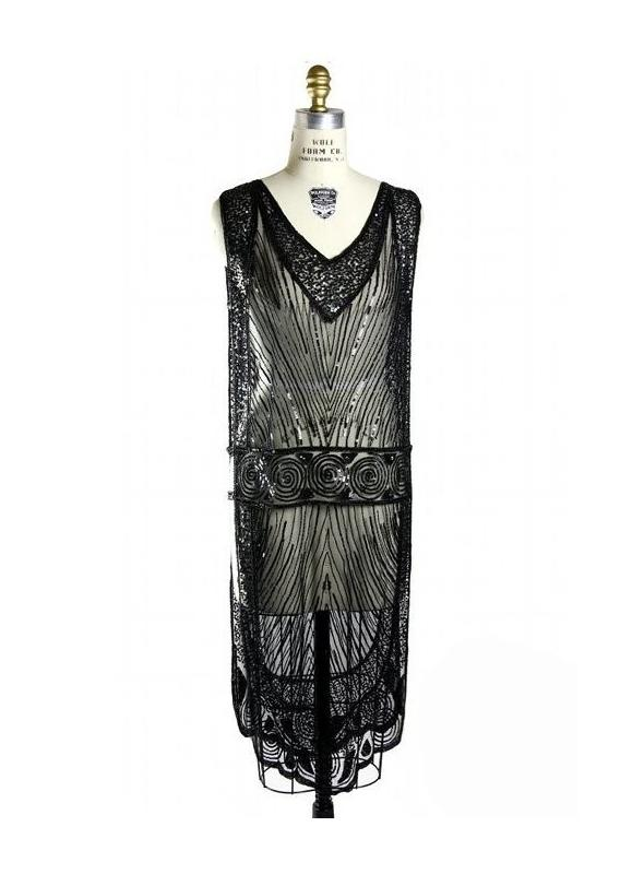 Great Gatsby Style Tabard Dress in Kohl by The Deco Haus
