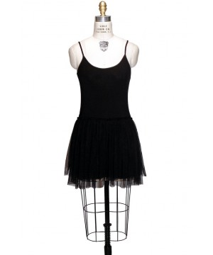 1920s Inspired Tulle Ballerina Slip Dress in Black by The Deco Haus