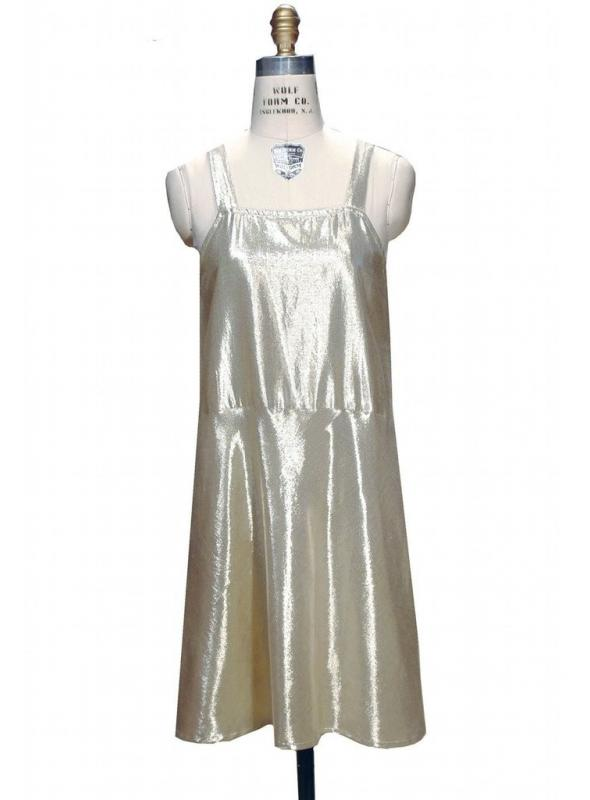 1920s Inspired Slik in Gold Lame by The Deco Haus