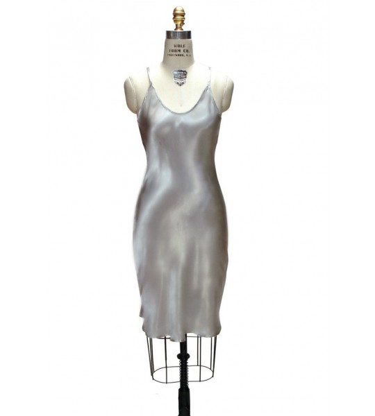 1930s Vintage Style Slip in Silver by The Deco Haus