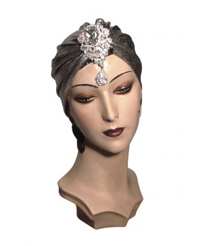 Roaring Twenties Evening Turban in Silver by The Deco Haus