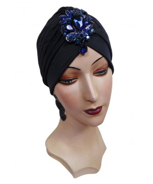 Roaring Twenties Evening Turban with Black Jet Teardrop by The Deco Haus