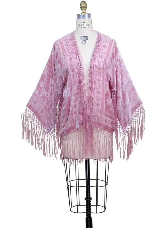 Art Deco Scarf Jacket in Rose/Pink by The Deco Haus