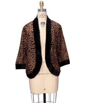 The Art Deco Bolero Smoking Jacket in Cheetah by The Deco Haus