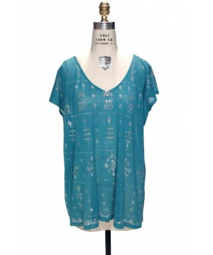 Gatsby Inspired Tunic Dress in Silver/Turquoise by The Deco Haus