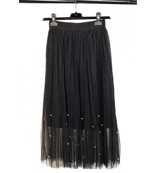 Roaring 20s Midi Skirt in Black The Deco Haus