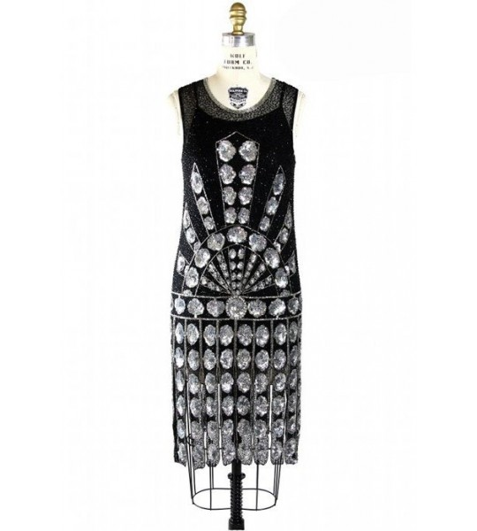 1920s Vintage Style Jazz Dress in Black by The Deco Haus