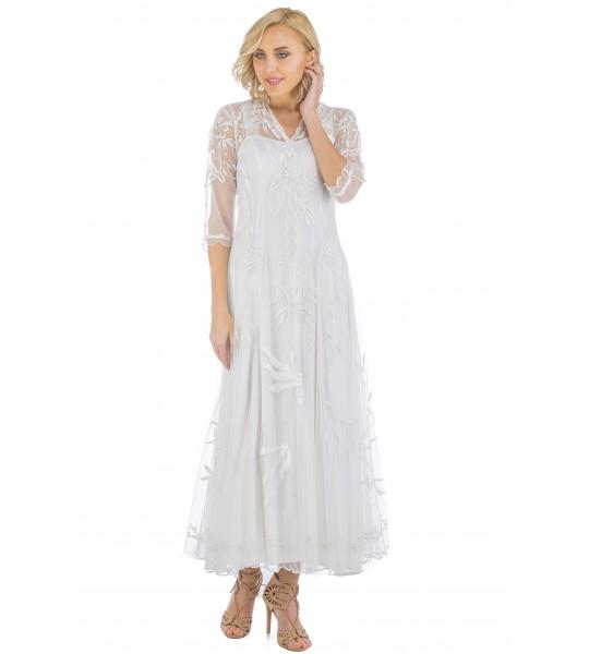 Elizabeth Vintage Style Wedding Gown in Ivory by Nataya