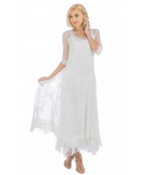 Celine Vintage Style Wedding Gown in Ivory by Nataya