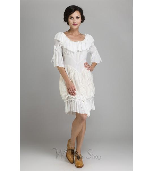 Cowgirl Ruffled Western Wedding Medium Dress by Marrika Nakk