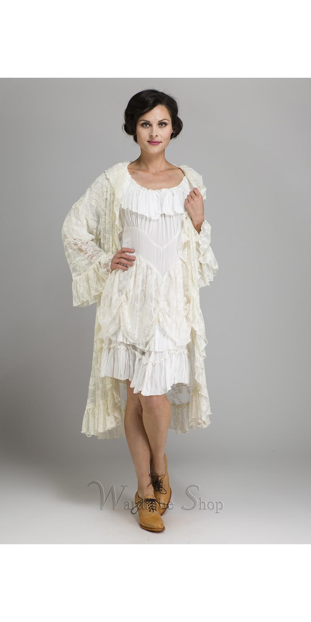 55831f11126 Western Style Romanza Jacket in White by Marrika Nakk
