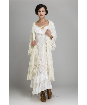 Cow Ruffled Western Wedding Dress By Marrika Nakk