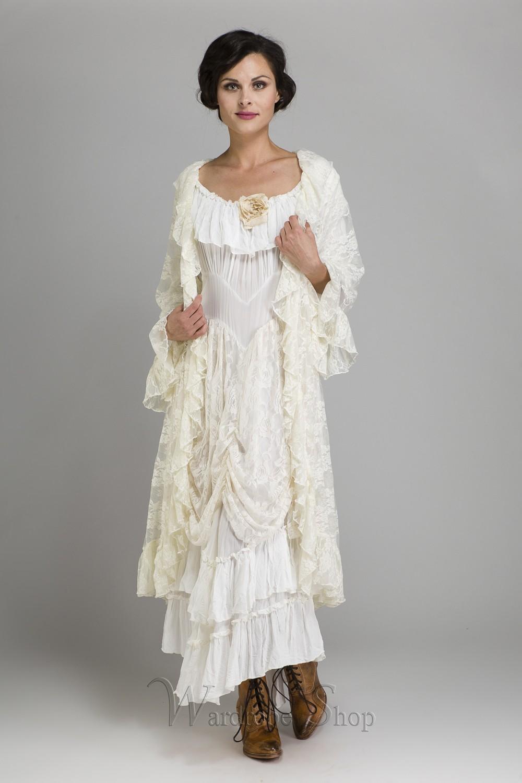 cf906ea21db Cowgirl Ruffled Western Wedding Dress by Marrika Nakk