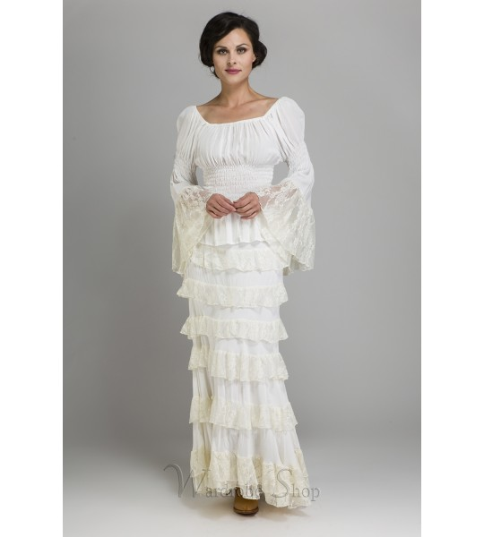 Peasant Rouched Bridal Top by Marrika Nakk