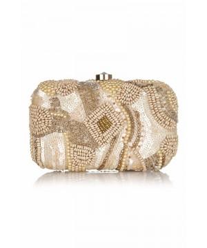 Vintage Inspired Pearl Handbeaded Bag in Blush