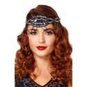 Flapper Style Headband in Navy Silver - SOLD OUT