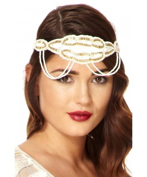 Flapper Style Headband in White Gold