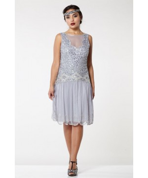 Roaring 20s Drop Waist Dress in Lilac