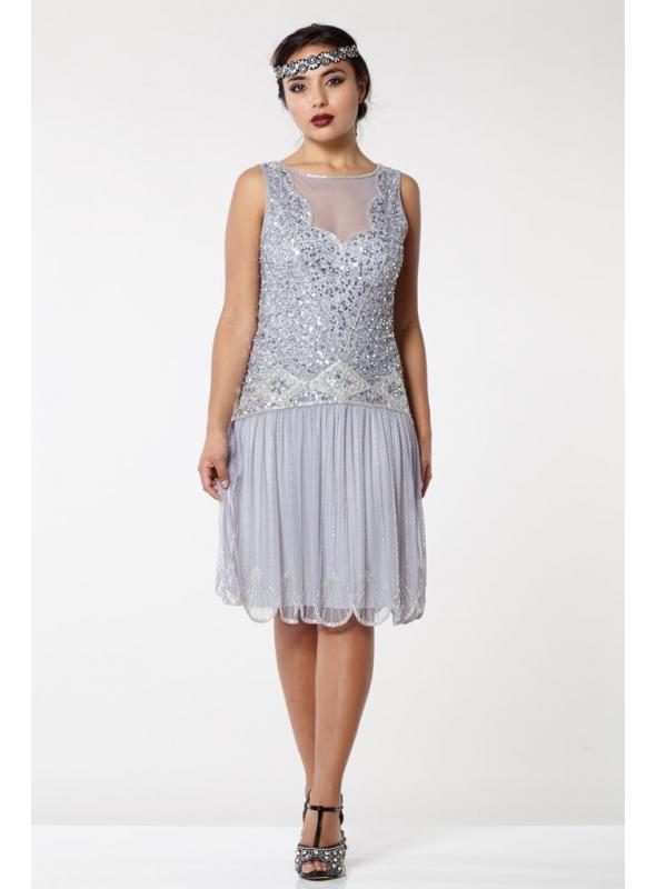 Roaring 20s Drop Waist Dress in Lilac