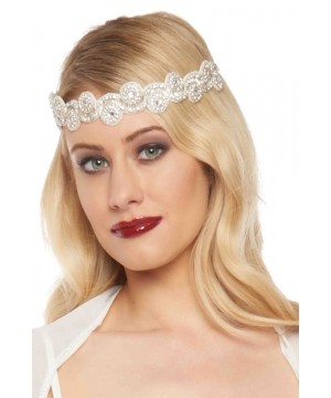 Flapper Style Headband in Cream Silver