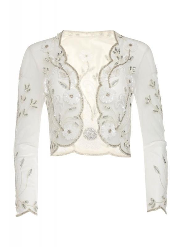 Great Gatsby Inspired Bolero in Off White
