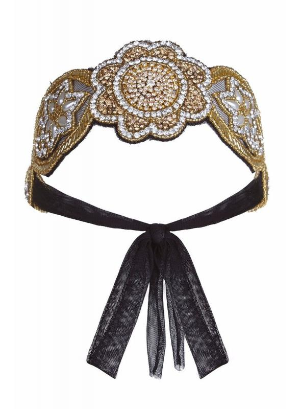 Roaring 20s Style Headband in Gold & Silver