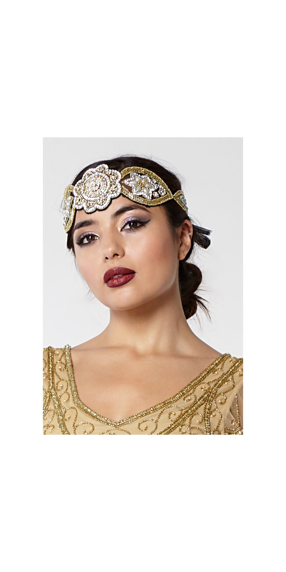 Roaring 20s Style Headband In Gold Amp Silver